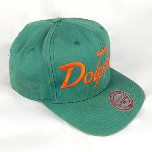 7bbfdaf02 Miami Dolphins Hat Football Cap Snapback NFL VTG